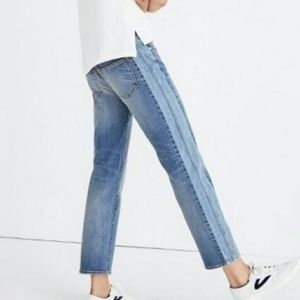 Madewell two tone cruiser jeans